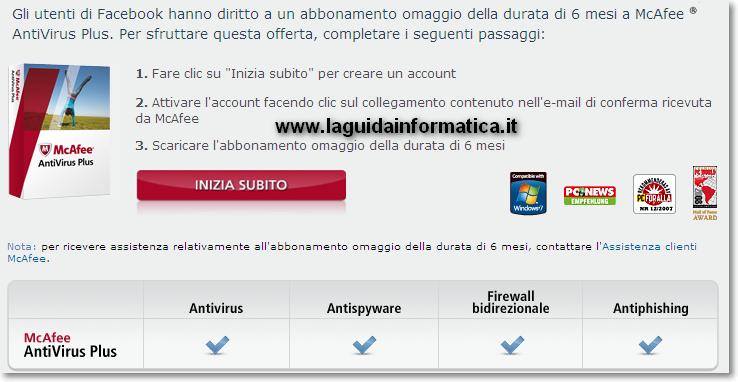 McAfee AntiVirus Plus licenza gratis per 6 mesi! – La Guida Informatica