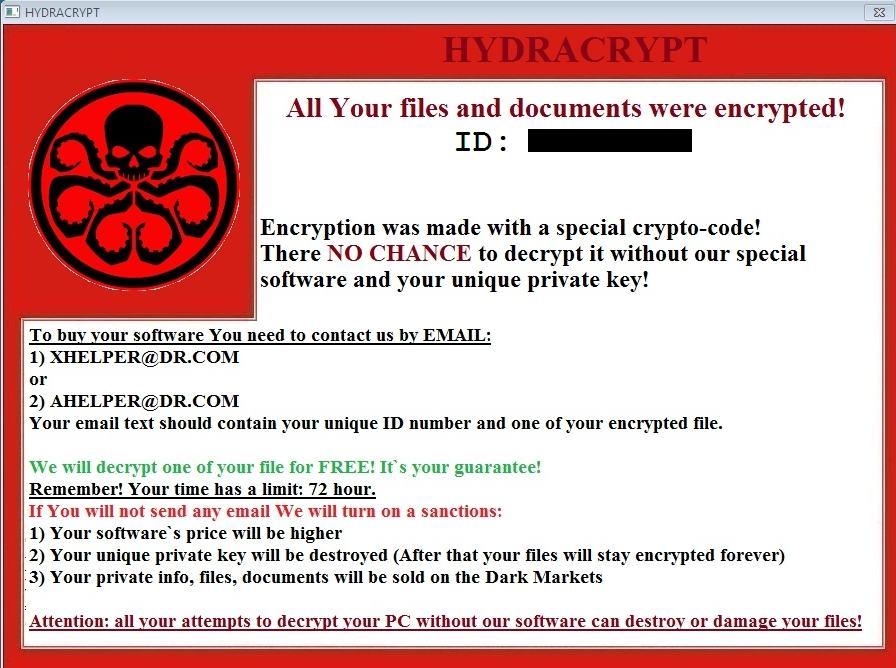 HYDRACRYPT-Ransomware